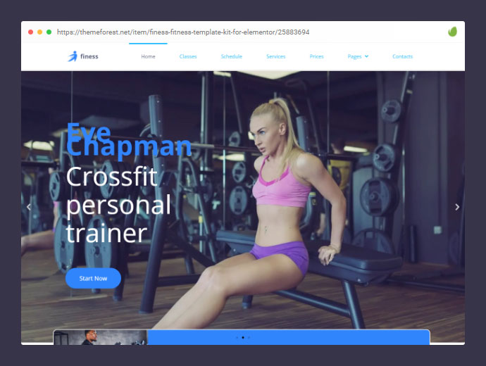 Finess – Fitness Template Kit for Elementor