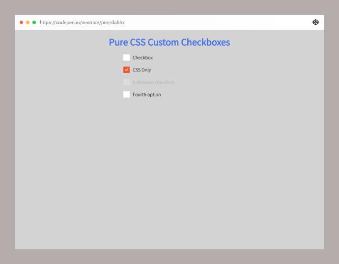 Pure CSS Custom Checkboxes
