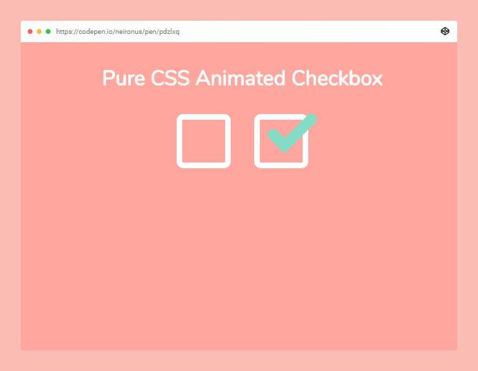 Animated Pure CSS Checkbox Codepen Challenge