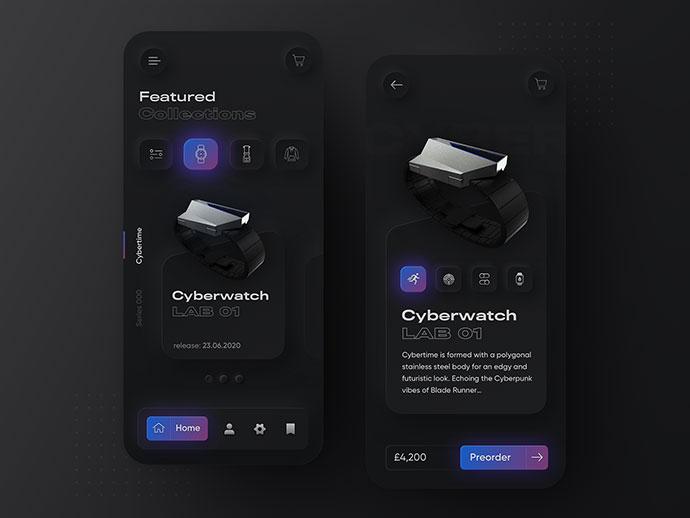 Skeuomorph Anicorn Watches App V2