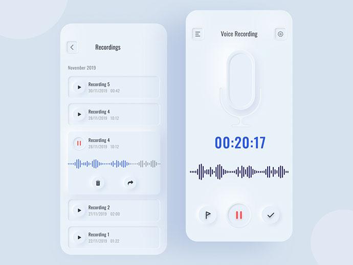 Voice Recorder Interface