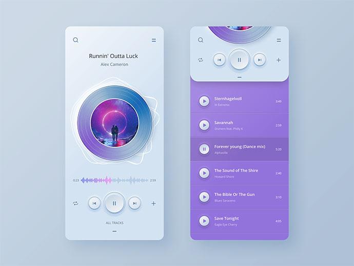 Player App Ui Concept