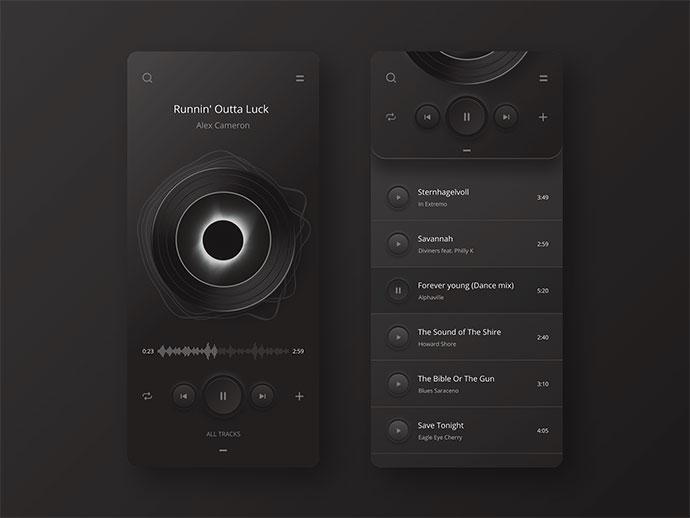 Player App Ui Night Version