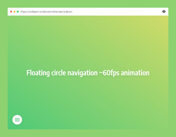 Morphing Fullscreen Navigation Menu