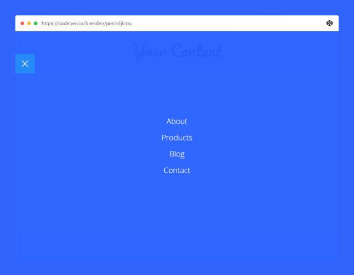 Pure CSS Fullscreen Navigation Menu