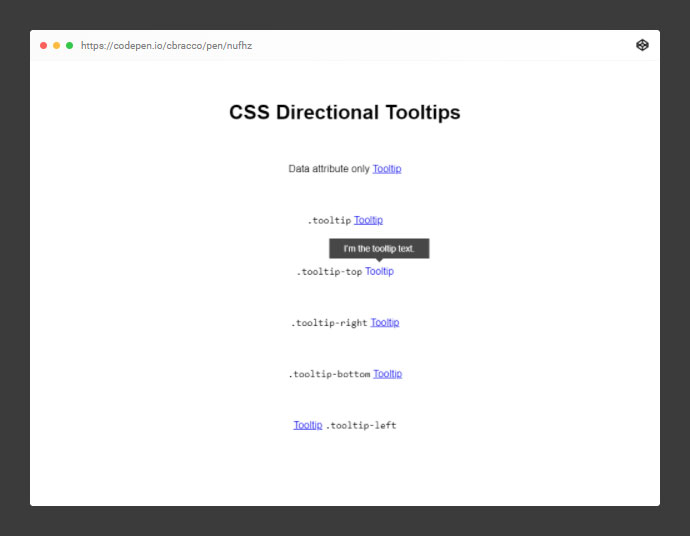 CSS Directional Tooltips