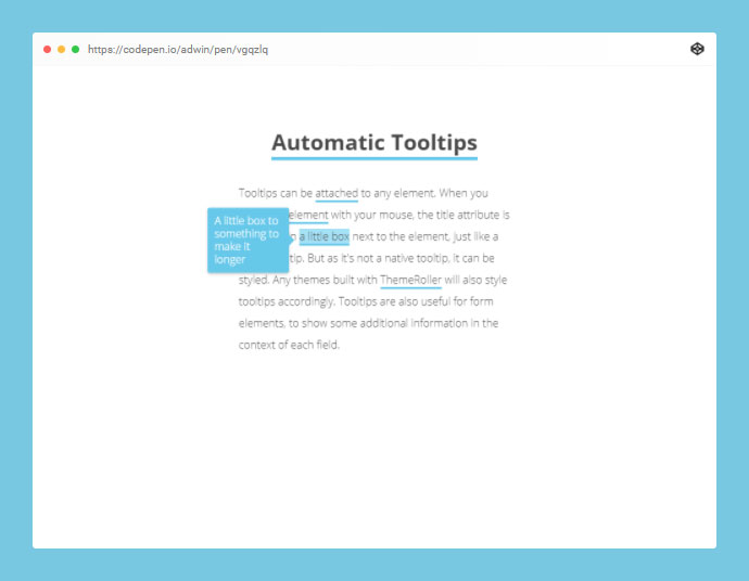 Automation Tooltips With Simple Data Attributes