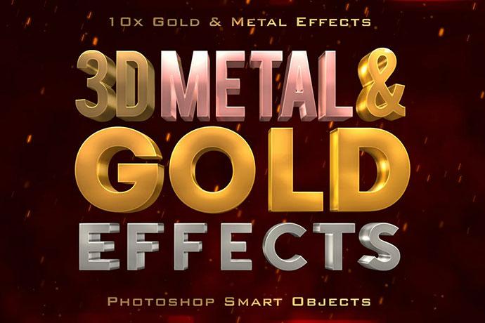 3d Metal & Gold Effects