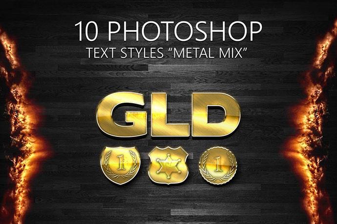 10 Photoshop Styles Metal Mix