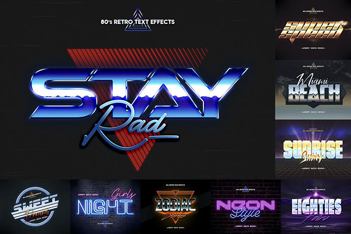 80s Retro Text Effects Vol.3