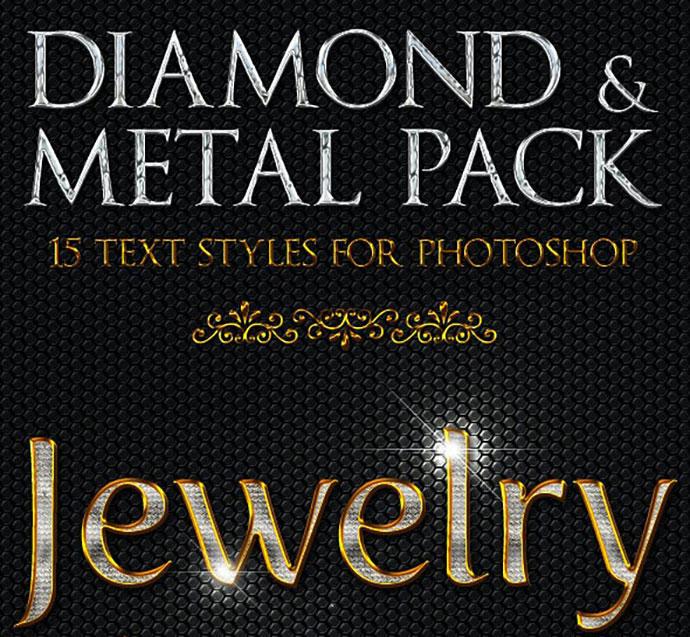 Diamond & Metal - Text Styles