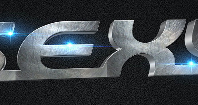3D Metal Style Text Effect