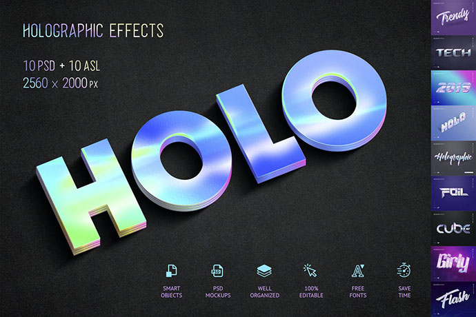 Holographic Text
