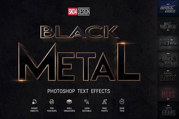Black & Metal - Psd Mockups