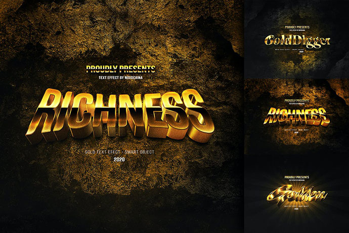 Elegant Gold Text Effects