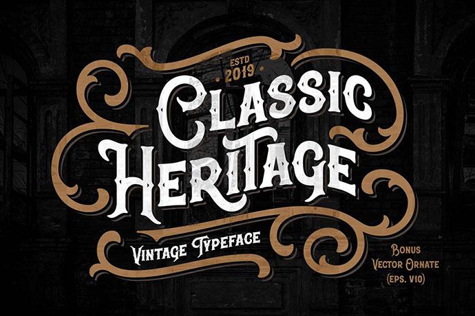 Classic Heritage typeface