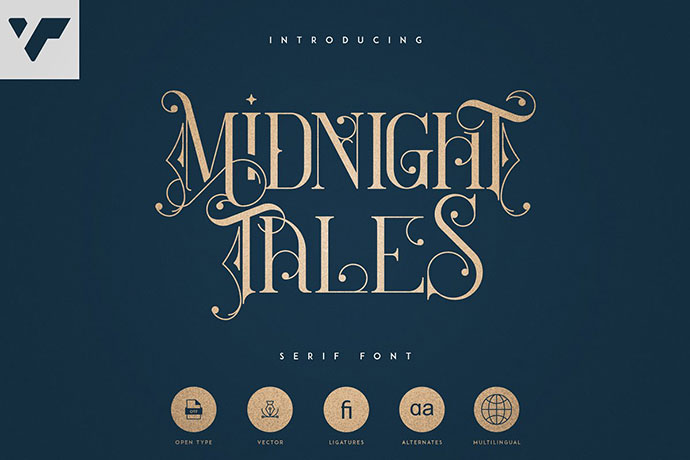 Midnight Tales - Vintage font
