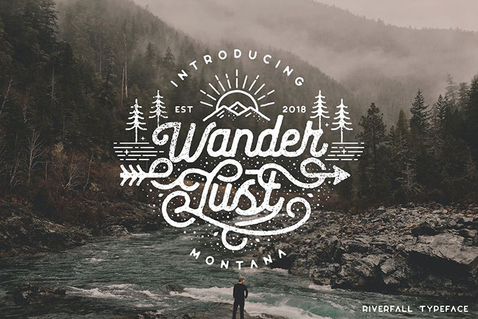 Riverfall Semi Rounded Textured Typeface