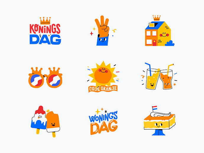 King's Day Stickers