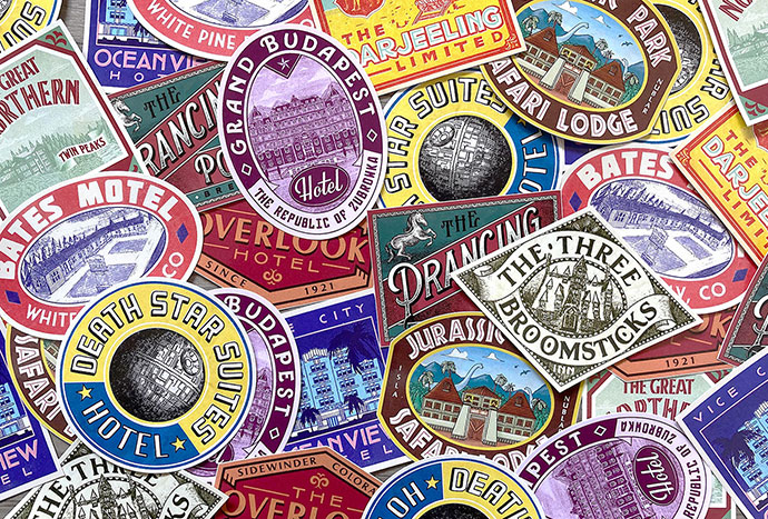 Bon Voyage - Vintage Hotel Stickers