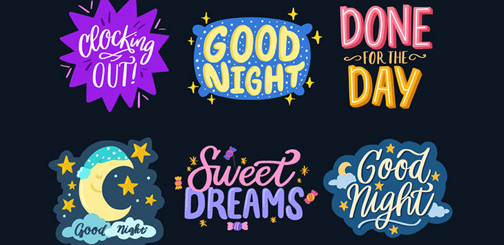 20 Stunning Typographic Sticker Designs