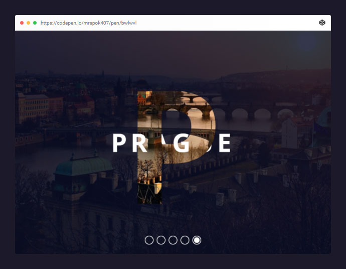 Responsive Parallax Drag-slider With Transparent Letters