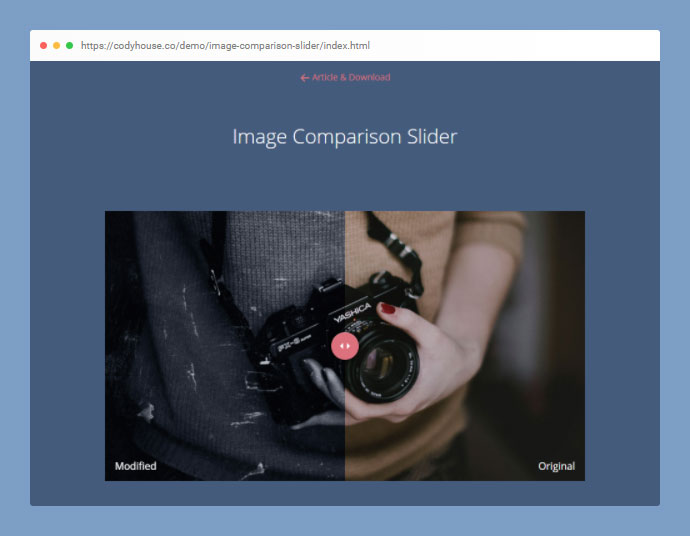 Image Comparison Slider