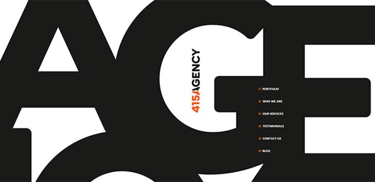 26 Big & Bold Typography Web Designs 2020