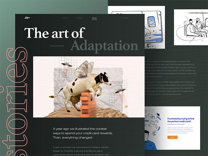 26个国外大字体排版的网页设计