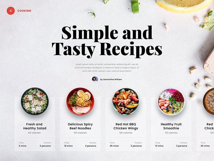 #Exploration - Food Website
