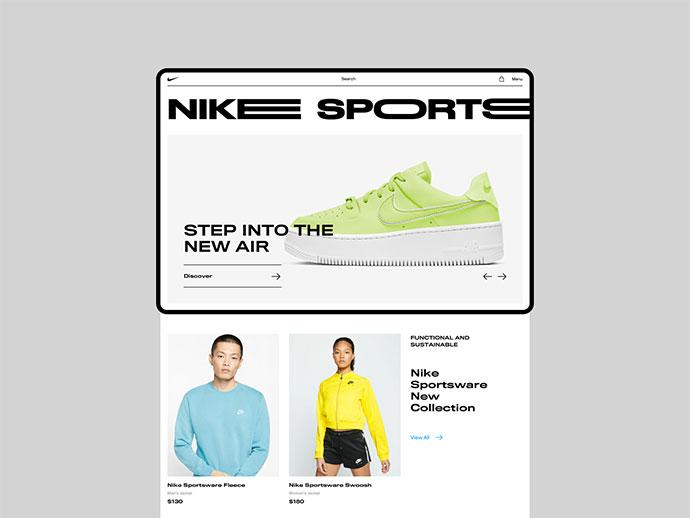 Nike | Main Page (Turn on sound)