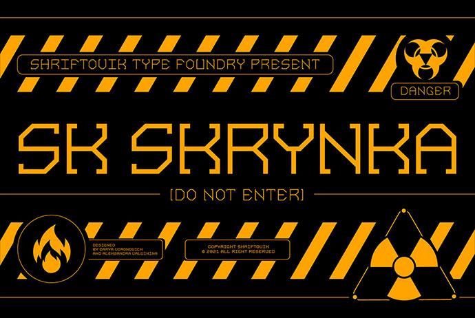 Sk Skrynka — Free Font