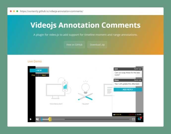 Videojs Annotation Comments