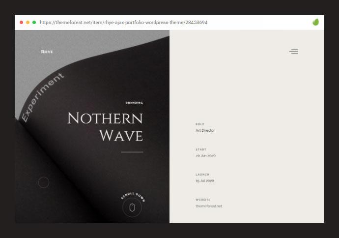 Rhye – AJAX Portfolio WordPress Theme