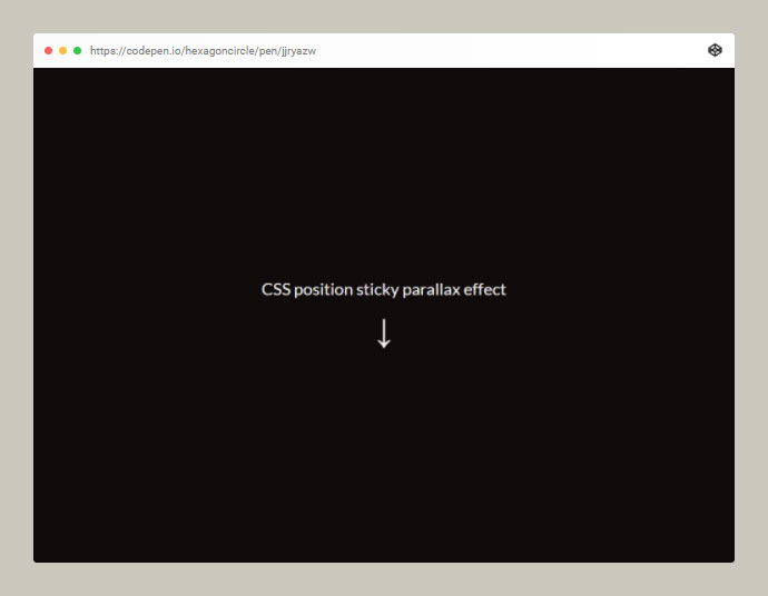 CSS Sticky Parallax Sections