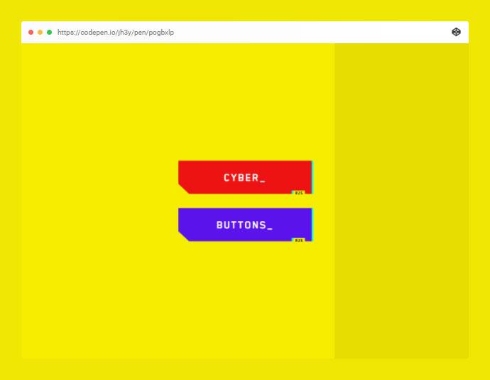 Pure CSS Cyberpunk 2077 Buttons _