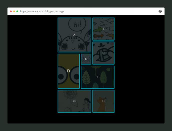 Hover Animated Portfolio