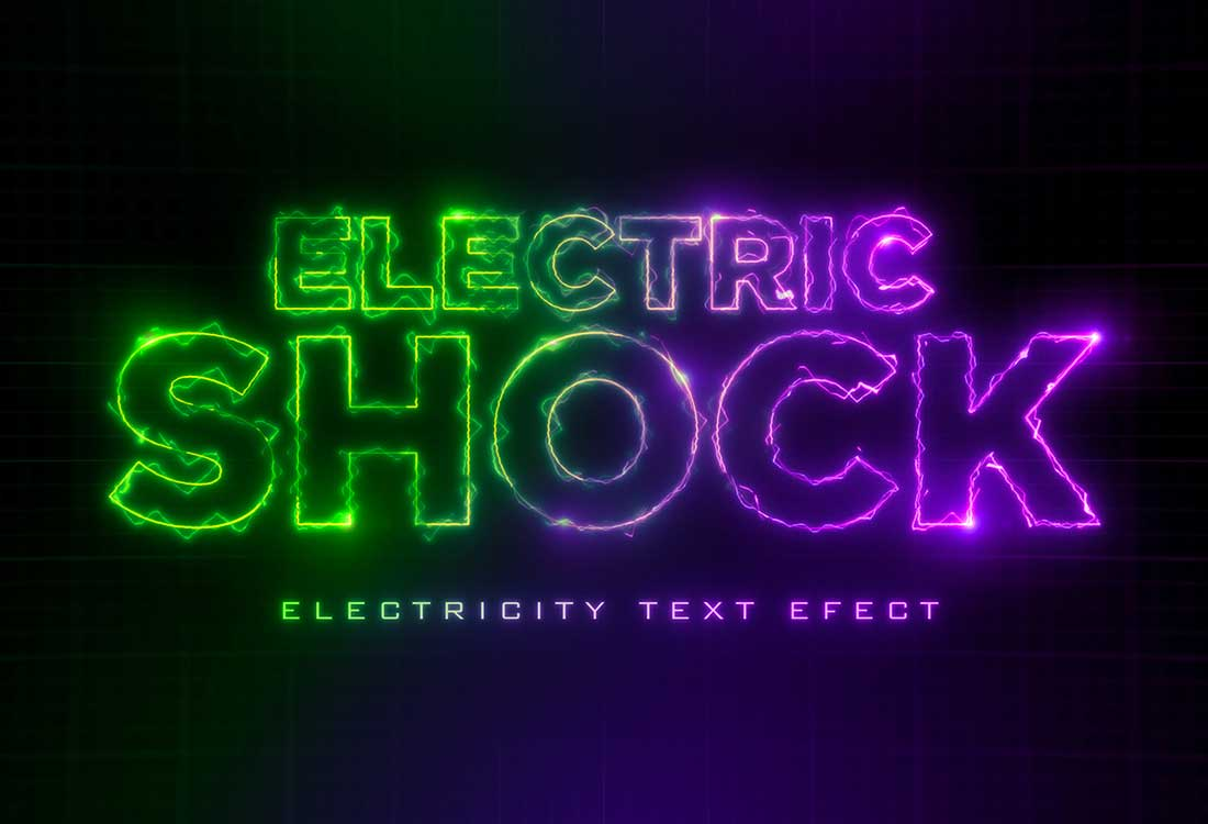Electric Text Effect