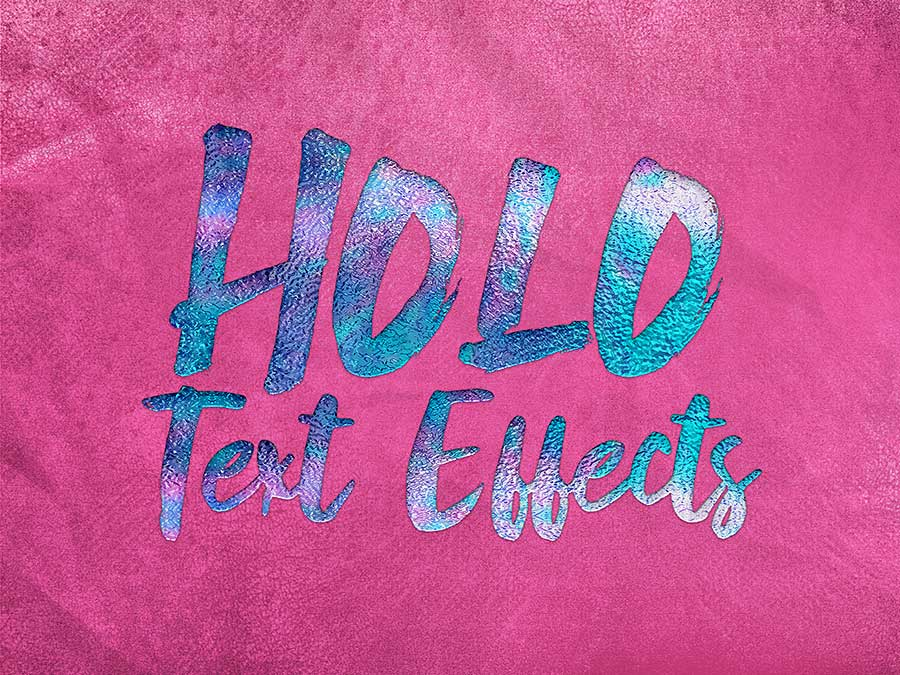Sparkle & Shine Holographic Text Effects