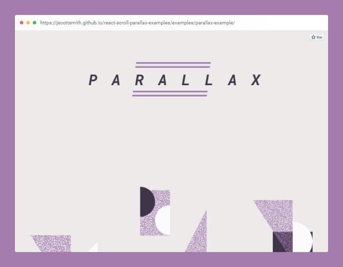 React Scroll Parallax