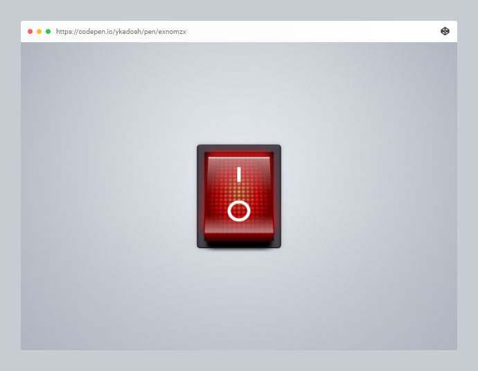 Realistic Red Switch (Pure CSS)