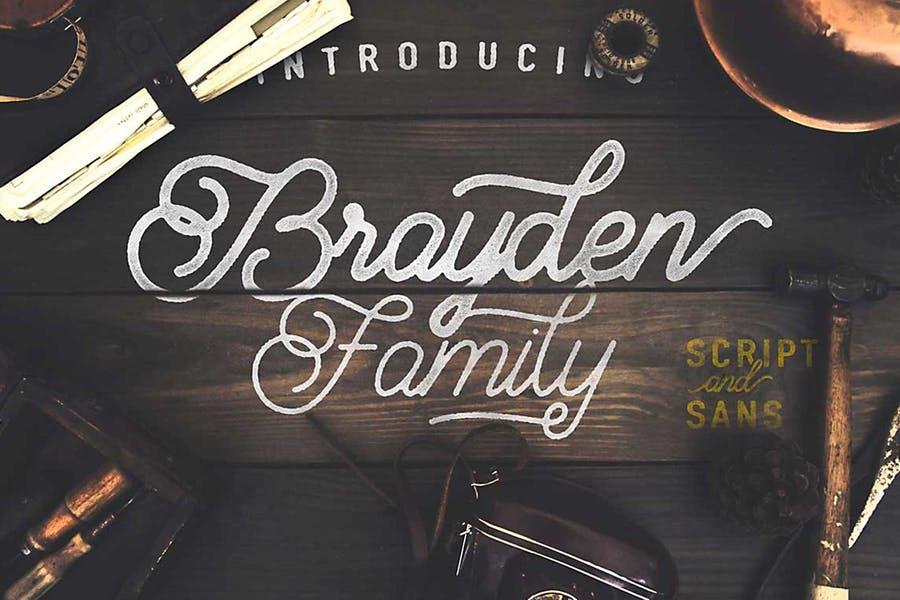 Brayden Script Family