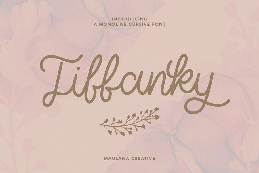 Tiffanky Monoline Cursive Font