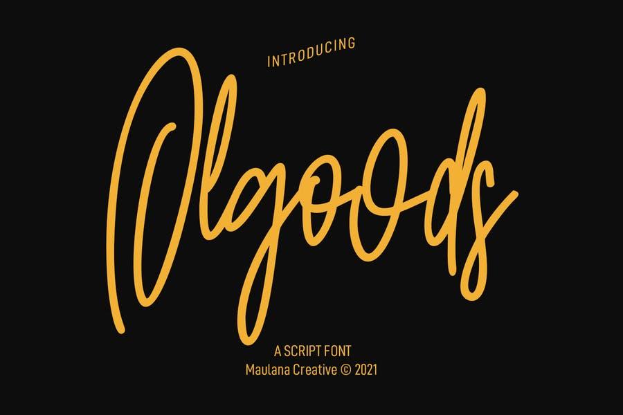 Olgoods Script Font