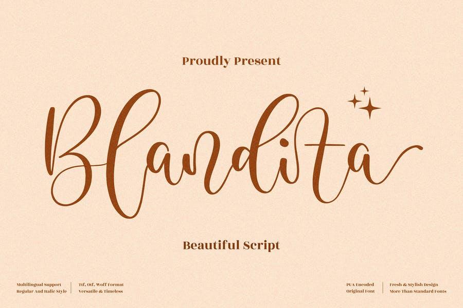 Blandita Beautiful Script LS