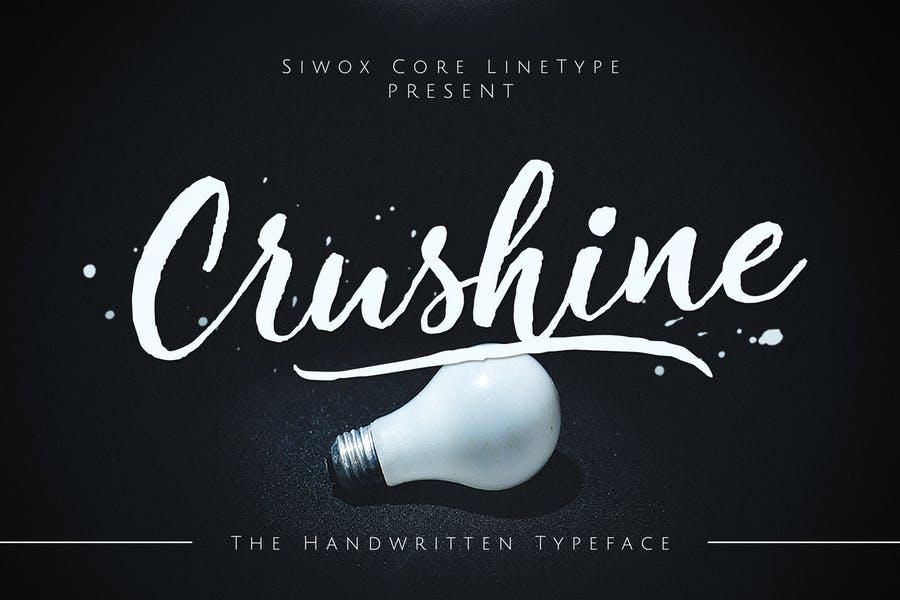 Crushine Wet Brush + Webfonts