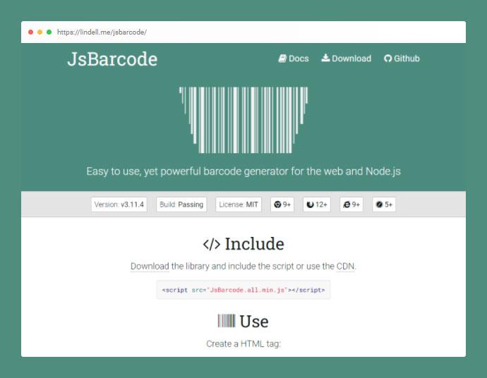 JsBarcode